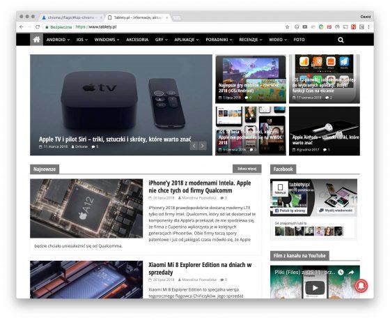 Google Chrome Material Design Refresh jak włączyć na desktopach iOS