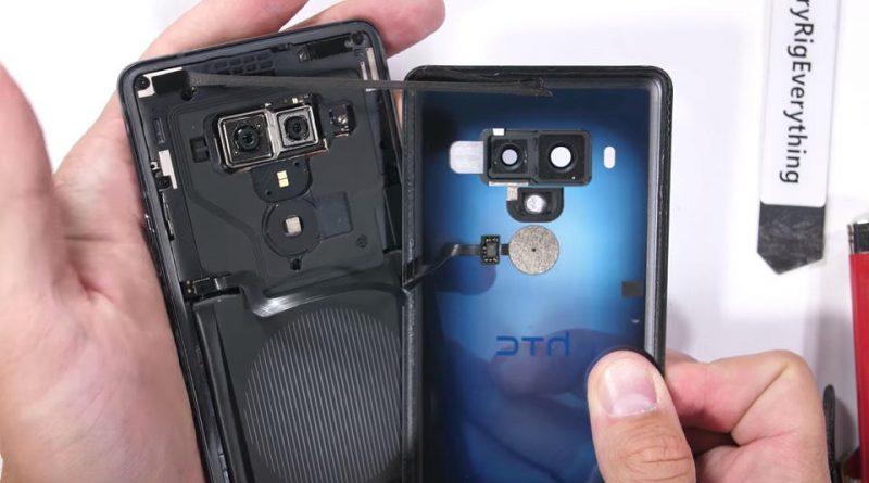 HTC U12 Plus wytrzymałość wykonanie testy JerryRigEverything