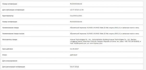 Huawei Mate 20 Lite kiedy premiera specyfikacja techniczna EMUI 9.0