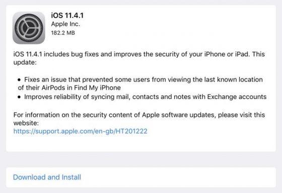 Apple iOS 11.4.1 co nowego iPhone aktualizacja watchOS 4.3.2 tvOS 11.4.1