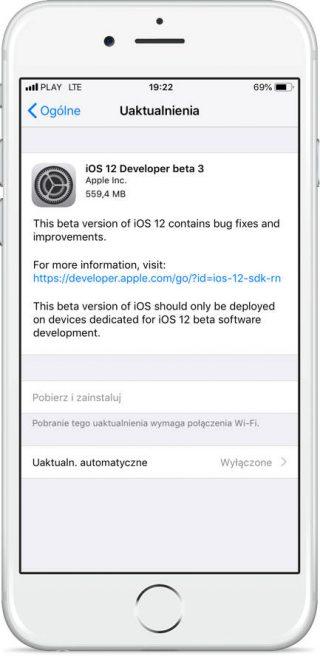 Apple iOS 12 beta 3 kiedy publiczna beta iOS 12 beta iPhone