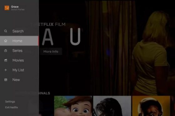 Netflix na telewizory nowy interfejs