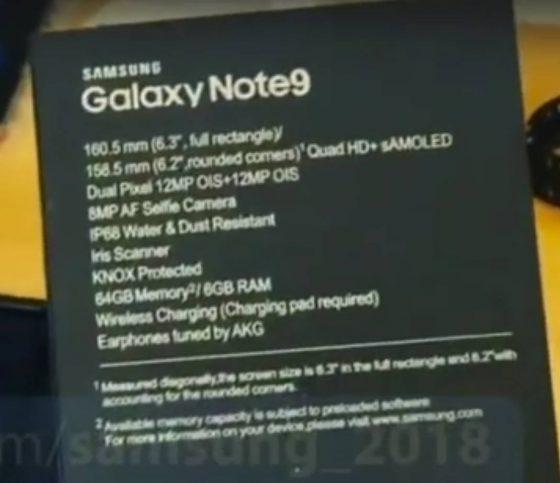 Samsung Galaxy Note 9 unboxing wideo specyfikacja techniczna cena kiedy premiera dane techniczne