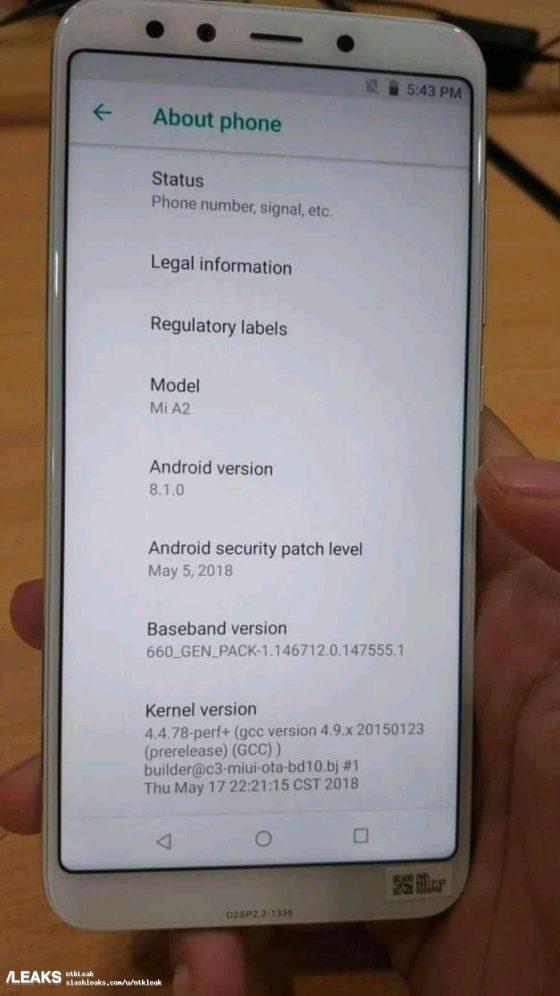 Xiaomi Mi A2 zdjęcie kiedy premiera specyfikacja techniczna