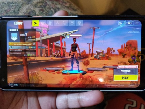 Fortnite Mobile na Androida Epic Games Samsung Galaxy Note 9