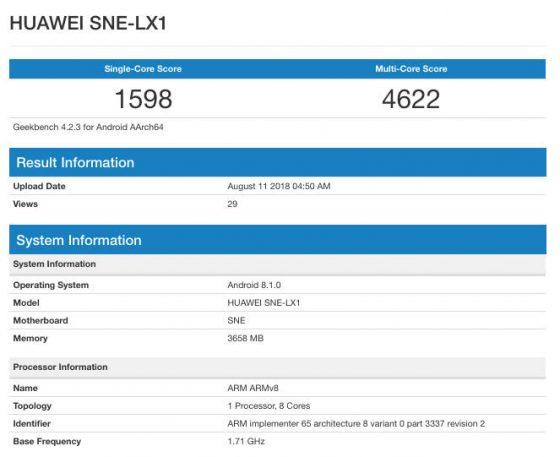 Huawei Mate 20 Lite Geekbench cena kiedy pramiera gdzie kupić w Polsce specyfikacja techniczna