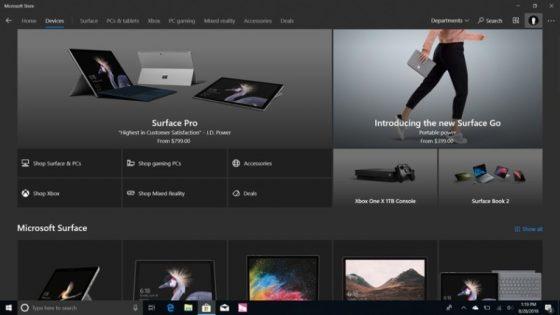 Microsoft Store Windows 10 zmiany nowe funkcje