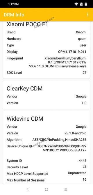 Xiaomi Pocophone F1 bez wsparcia dla Wideline L1