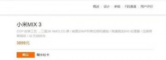 Xiaomi Mi Mix 3 cena specyfikacja techniczna kiedy premiera gdzie kupić