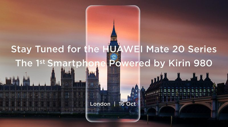 Huawei Mate 20 Pro, Mate 20 and Mate 20X. Where to watch a conference in London?
