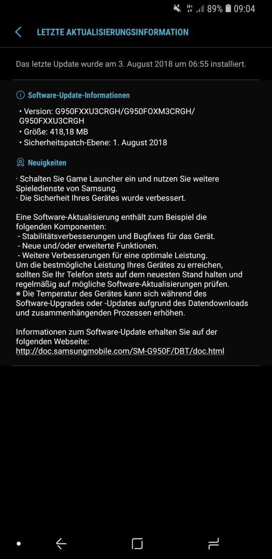 sierpniowe poprawki bezpieczeństwa Android Samsung Galaxy S9 Galaxy S8 Galaxy note 8