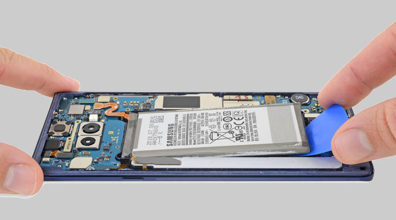 Naprawa Samsung Galaxy Note 9 iFixit jak naprawić ekran specyfikacja techniczna cena
