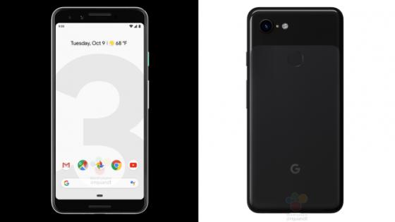 Google Pixel 3 XL rendery kiedy premiera specyfikacja techniczna