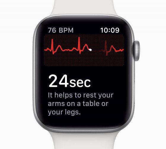 Apple Watch series 4 EKG elektrokardiogram