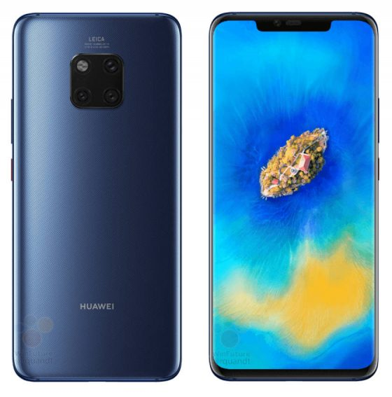 Huawei Mate 20 Pro renders press graphics when the premiere technical specification