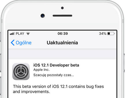 Apple iOS 12.1 beta 1 co nowego watchOS 5.1 tvOS 12.1