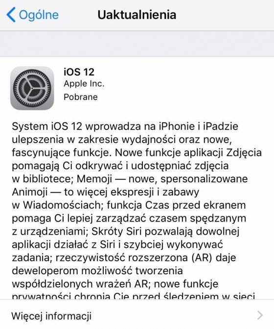 iOS 12 GM kiedy premiera dla wszystkich Apple iPhone