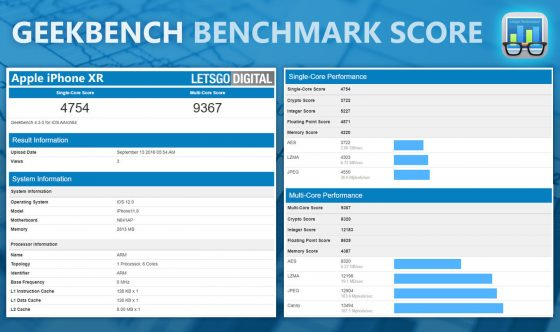iPhone Xr Apple A12 Bionic Geekbench ile pamięci RAM specyfikacja techniczna