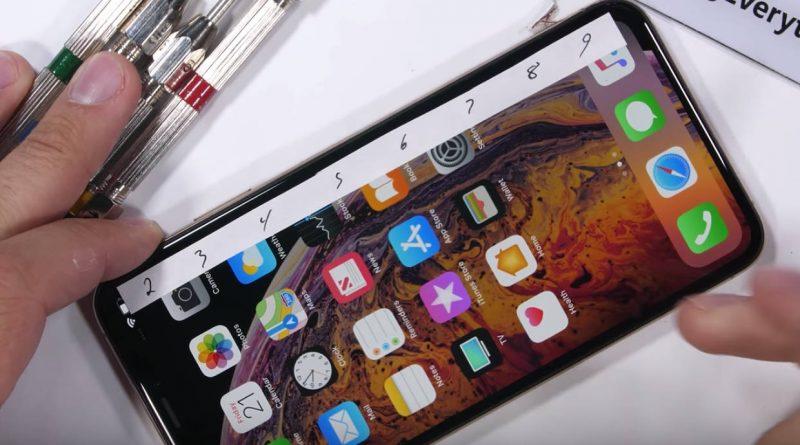 Apple iPhone Xs Max konstrukcja wytrzymałość tortury Zack JerryRigEverything
