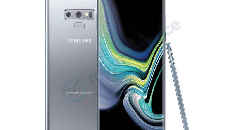 Srebrny Samsung Galaxy Note 9