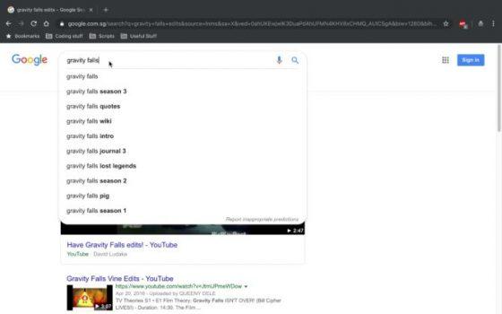 wyszukiwarka google material design