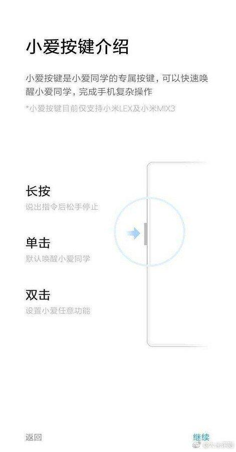 Xiaomi Mi Mix 3 przycisk Xiao AI Xiaomi Mi LEX kiedy premiera specyfikacja techniczn gdzie kupić w Polsce