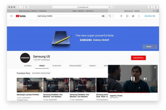 miniodtwarzacz YouTube aplikacje Google