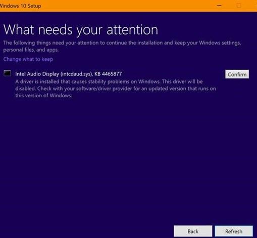 Problemy z instalacją Windows 10 October 2018 Update sterowniki Intel co zrobić