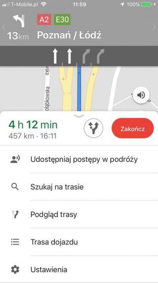 Mapy Google iOS udostępnianie lokalizacji