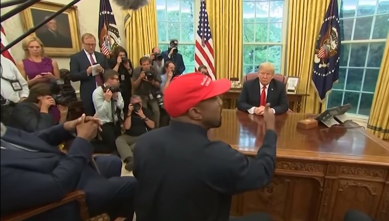 donald trump kanye west iphone apple air force one