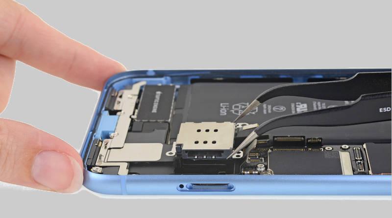 Apple iPhone Xr ifixit naprawa specyfikacja techniczna płyta główna opinie