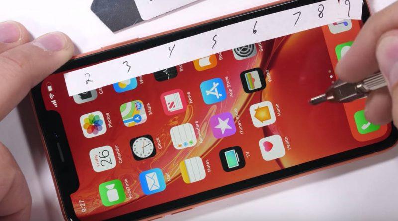 Apple iPhone Xr konstrukcja wytrzymałość testy