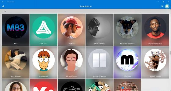 MyTube za darmo klient YouTube aplikacje Windows 10