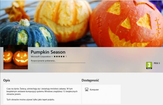 Windows 10 tapety Halloween Pumpkin Season