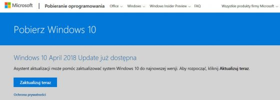 Windows 10 October 2018 Update problemy Microsoft wycofuje