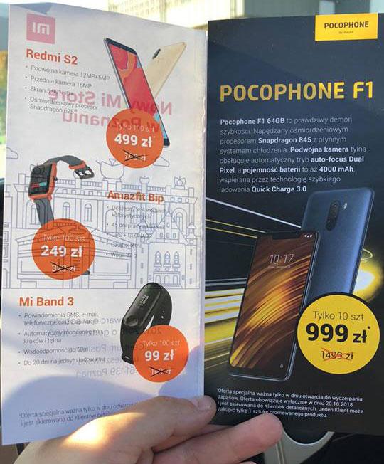 Xiaomi Mi Store w Poznaniu kiedy otwarcie promocje Pocophone F1 promocja Posnania Poznań
