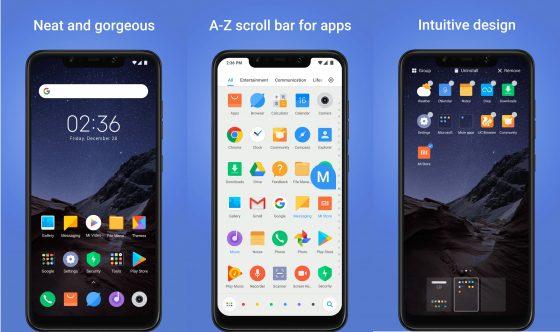 Xiaomi POCO Launcher aplikacji z Pocophone F1