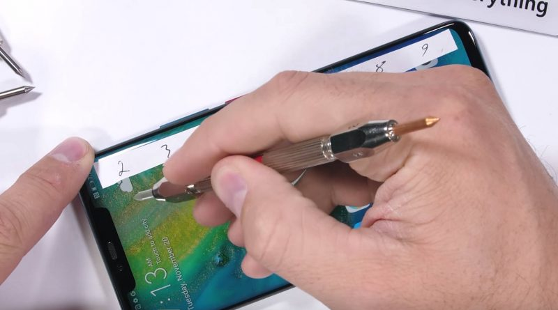 Huawei Mate 20 Pro JerryRigEverything jakość wytrzymałość opinie