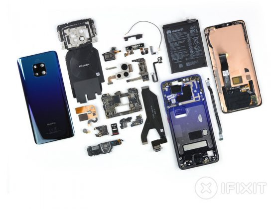Huawei Mate 20 Pro iFixit repair reviews technical specification