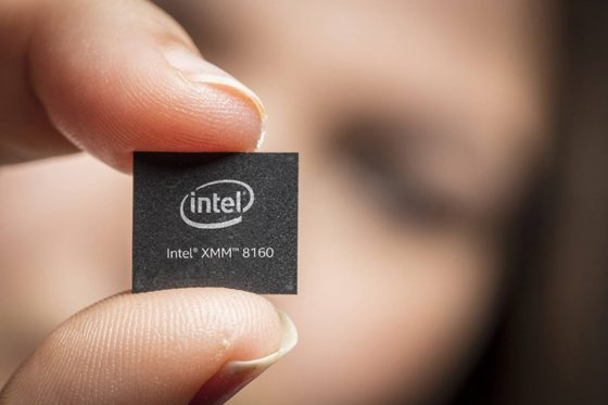 Intel XMM 8160 modem 5G dla Apple iPhone 2019