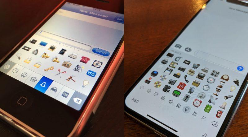 iPhone OS 2.2 pierwsze emoji Apple na iOS