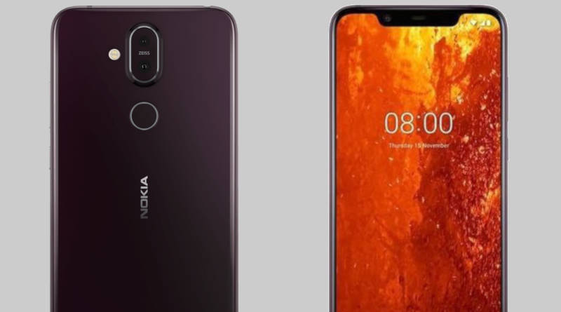 Nokia 8.1 in a leak. There are renders and specifications