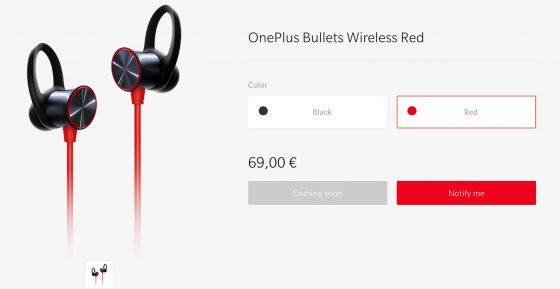 Czerwone słuchawki bezprzewodowe OnePlus Bullets Wireless dla OnePlus 6T cena gdzie kupić najtaniej opinie