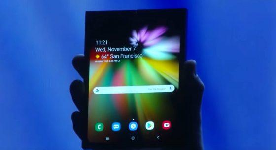 Samsung Galaxy F One UI Infinity Flex składane smartfony ekrany SDC 2018 cena