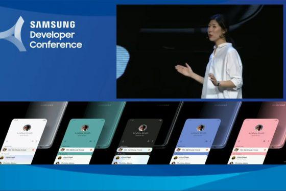 Samsung Galaxy S10 nowe kolory One UI SDC 2018