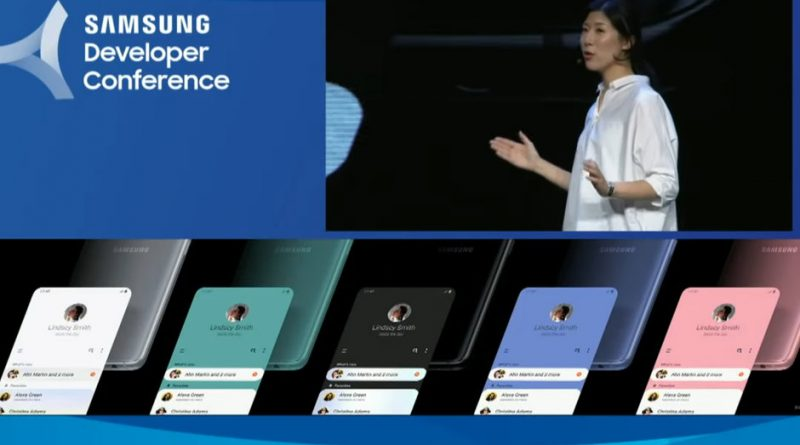 Samsung Galaxy S10 new colors One UI SDC 2018