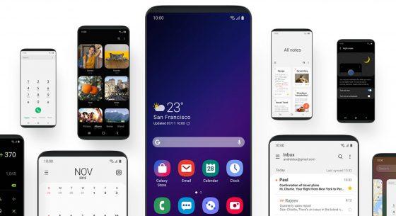 Samsung Galaxy F One UI Infinity Flex folding smartphones screens SDC 2018