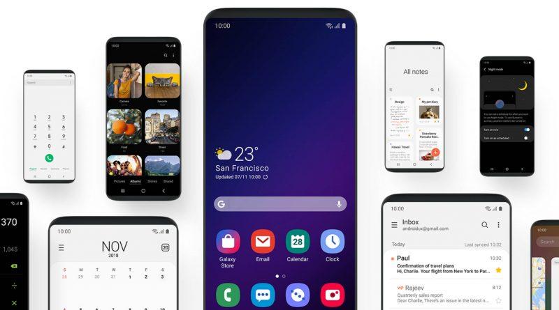Samsung Galaxy F One UI Infinity Flex składane smartfony ekrany SDC 2018 Android Pie beta dla Galaxy S9
