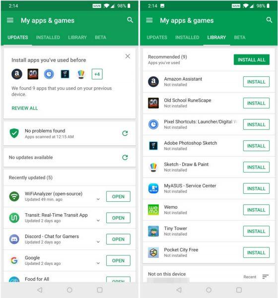 Google Play Store Sklep Play nieużywane aplikacje
