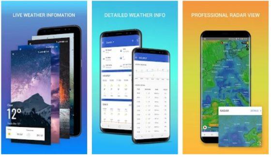 Apex Weather najlepsze aplikacje grudnia 2018 sklep play android
